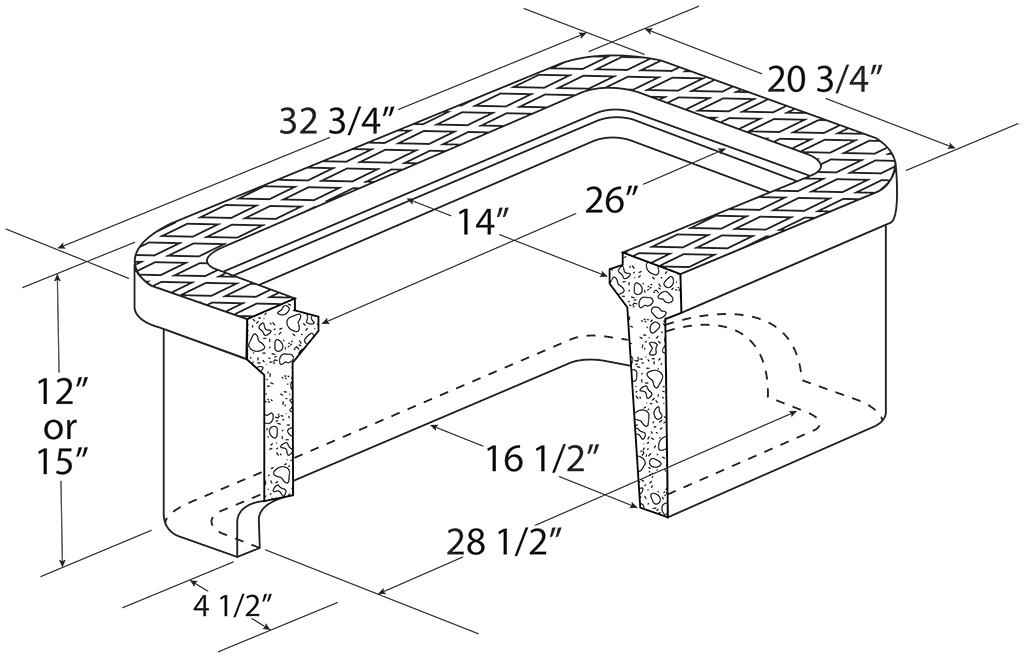 """C.H. 2"""" Concrete Meter Box"""