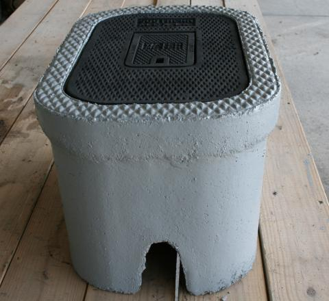 "C.H. 3/4"" Concrete Meter Box"